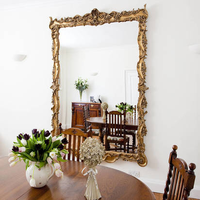 Original striking large ornate mirror