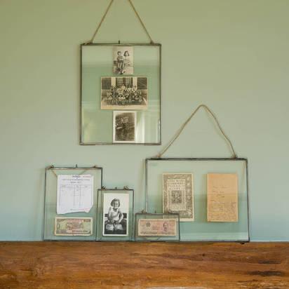 Original glass hanging frame