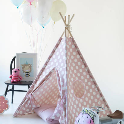 Original kids teepee pink