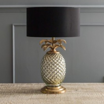 Cvo4609 silver gold pineapple lamp