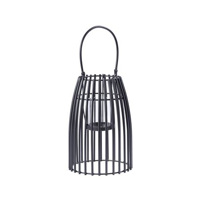 Urbane small black basket lantern 78186 p