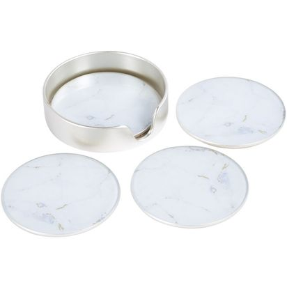 Waldorf white and gold marble look coasters set of 4 78197 p