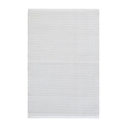 Herringbone indoor outdoor rug pearl grey white 12 971713