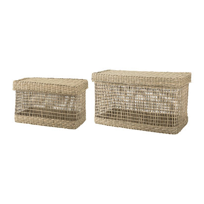 Seagrass baskets natural set of 2 901508