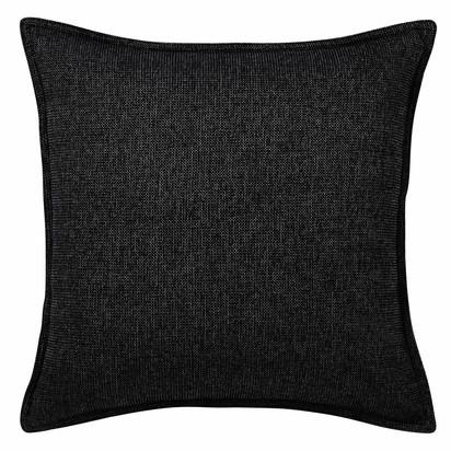 Chenille charcoal grey cushion 45 x 45 cm 1000 13 12 153557 3