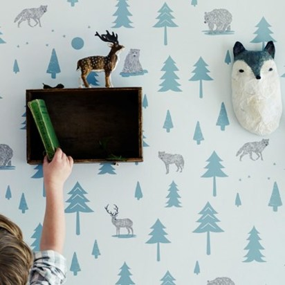 Into the wild kids wallpapergrey storm green 2