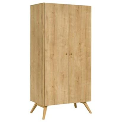 Large oak wardrobe with two doors