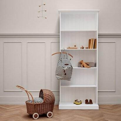Oliver white seaside bookcase
