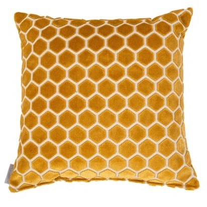 Mustard yellow monty cushion