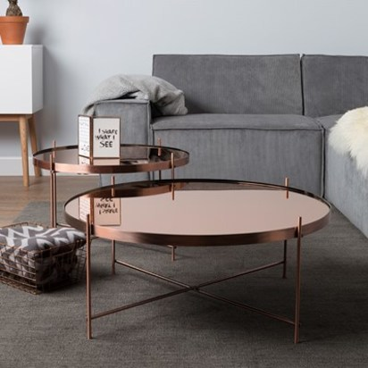 Copper round large tables zuiver
