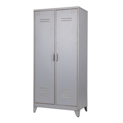 Cabinets lockers storage kids woood grey