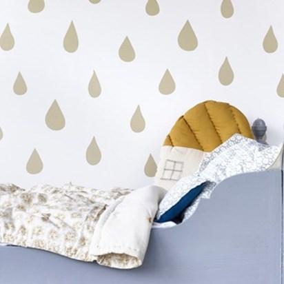 Raindrops wallpaper gold
