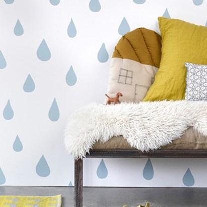 Raindrops wallpaper ice blue
