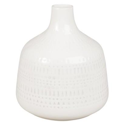 White ceramic bottle vase h 23 1000 5 38 178675 1