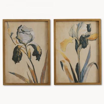 Brookby set of 2 framed blue iris wall art no7084b 1.2291