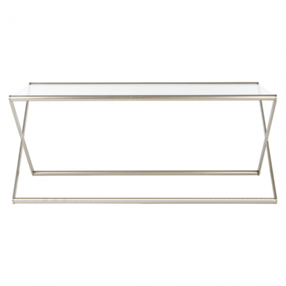 Square roma glass metal coffee table