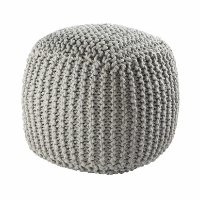 Baltique wool knit pouffe in grey 1000 2 11 146627 0