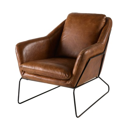 Brown leather armchair majestic 1000 6 1 175973 1