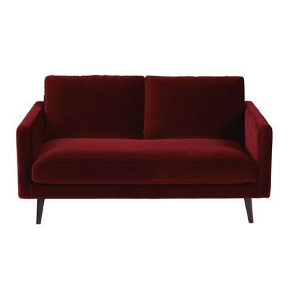 Burgundy 2 seater velvet sofa kant 1000 2 16 166517 1