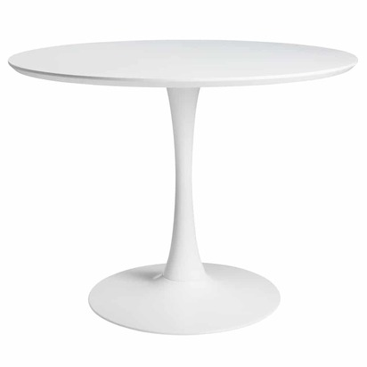 Round dining table in white d 100 cm circle 1000 2 19 165905 1