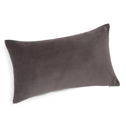 Velvet cushion in charcoal grey 30 x 50cm 1000 16 31 151690 1