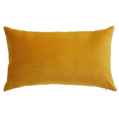 Savora mustard yellow velvet cushion 30 x 50 cm 1000 12 32 167394 1