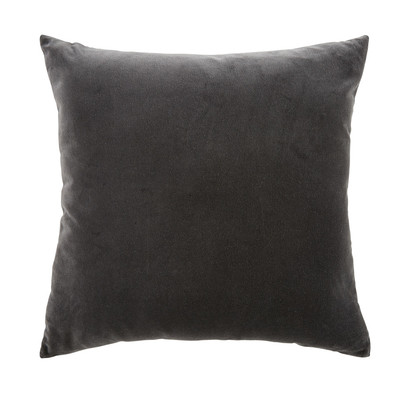 Charcoal grey velvet cushion 45x45 1000 10 27 177762 1