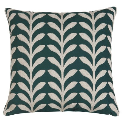Green embroidered cushion cover 40 x 40 cm 1000 12 0 173922 1