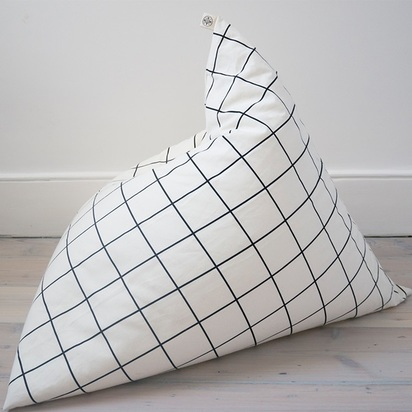 Front view grid bean bag for children