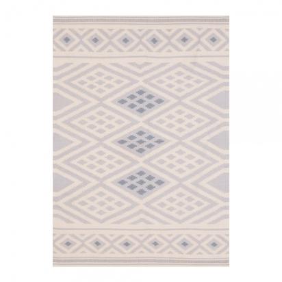 Cult living 100 cotton aztec diamond moroccan kilim rug grey p9451 113010 image
