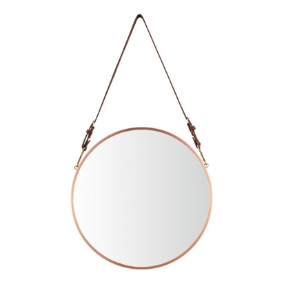 Cult living aria hanging wall mirror copper p11006 132266 image