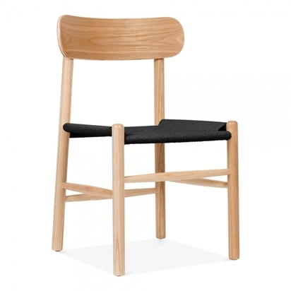 Cult living anders dining chair solid beech wood black rattan seat natural p8747 106325 image