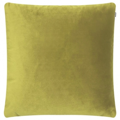 Cult living piped edge velvet fabric cushion lime green p12343 150530 image