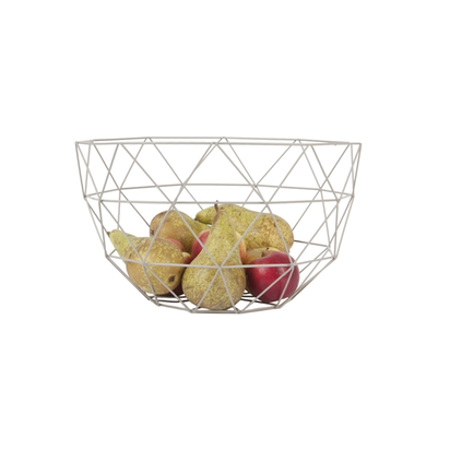Present time linea metal fruit bowl set of 2 grey p6880 80965 image