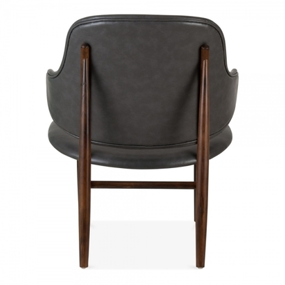 Cult living easy winged accent chair faux leather upholstered grey p8483 139766 image