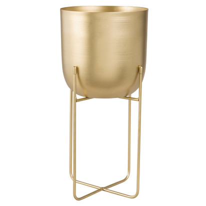 Gold metal footed planter h 40 1000 4 26 178827 1