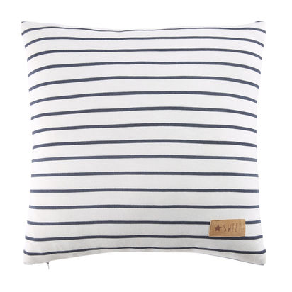 White cotton cushion with blue stripes 40 x 40 1000 0 17 181237 1