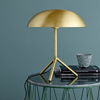 Tripod table lamp brushed gold 507942