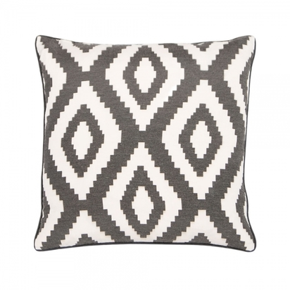 Cult living aztec diamond design fabric cushion graphite grey p8387 103497 image