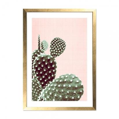 Cult living california cactus art print framed poster pink a2 p13720 169030 image
