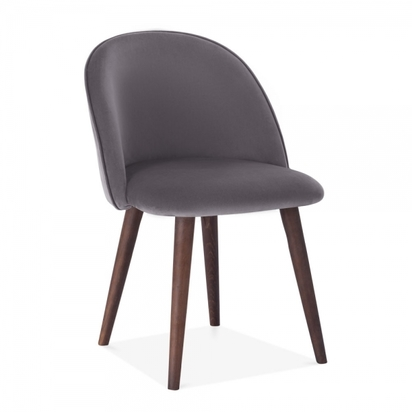 Cult living dahlia dining chair velvet upholstered charcoal grey p12634 157377 image