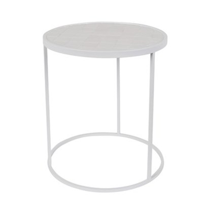White glazed side table from zuiver