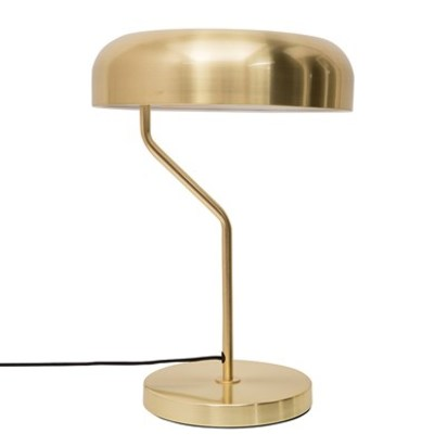 Eclipse brass bedside table lamp
