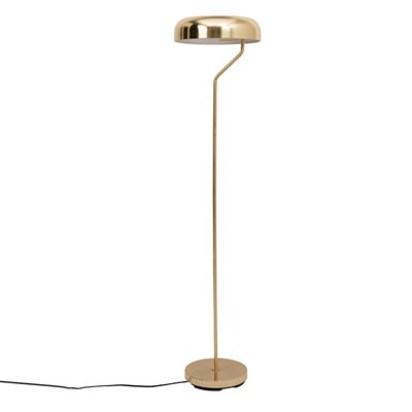 Vintage style eclipse floor lamp in brass