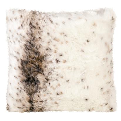 Winter home lynx faux fur cushion 45x45cm 1