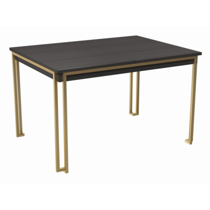 Federico stained black oak extending dining table 5