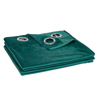 Emerald green fabric eyelet curtain 140x250 1000 15 3 173925 4