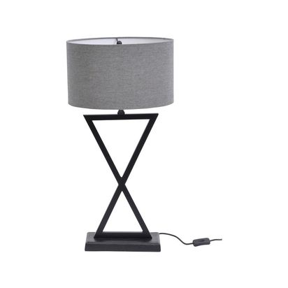 Aston black cross metal table lamp 16896 p