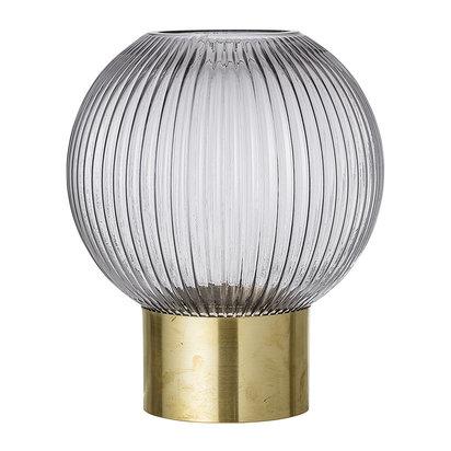 Spherical glass vase grey large 254220