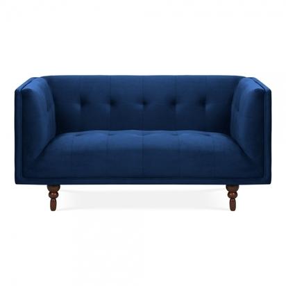 Cult living marlon 2 seater sofa velvet upholstered royal blue p14922 187336 image